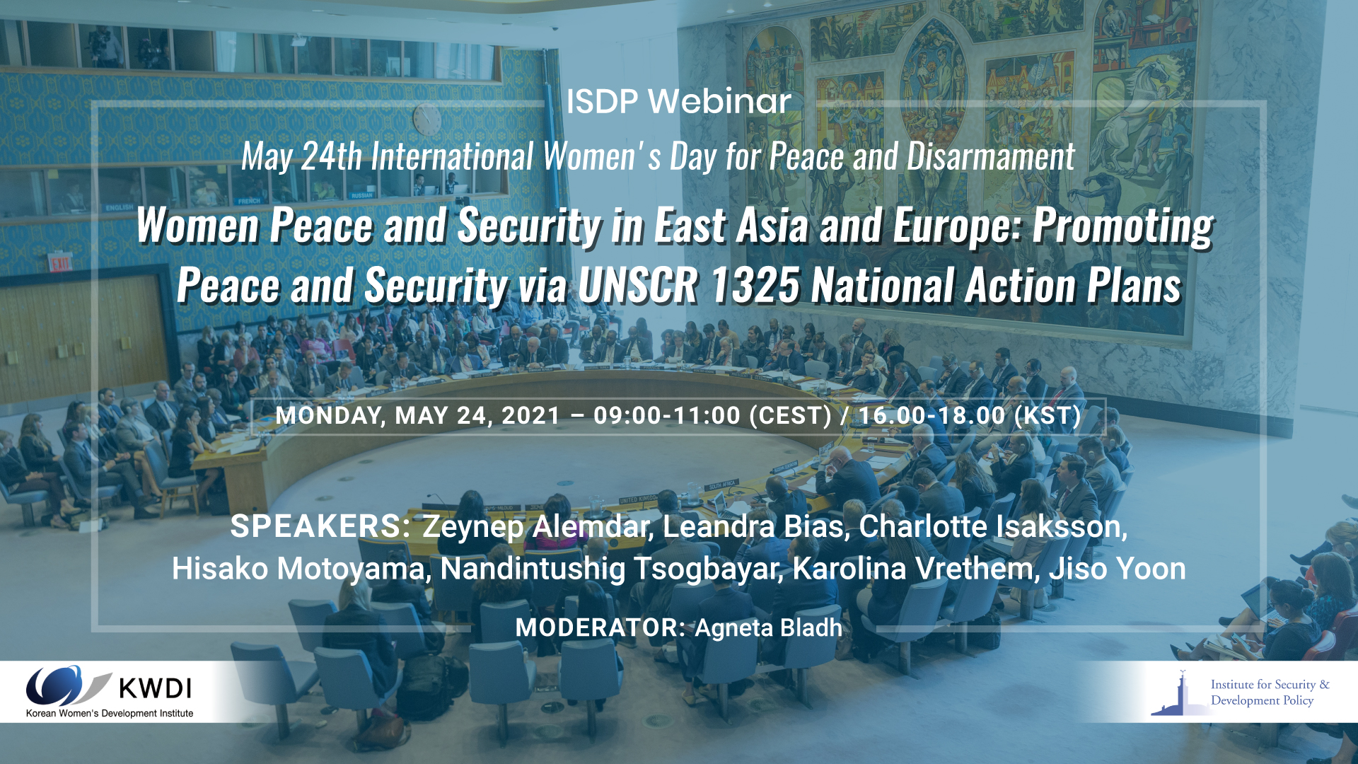 Women Peace and Security in East Asia and Europe: Promoting Peace and Security via UNSCR 1325 National Action Plans